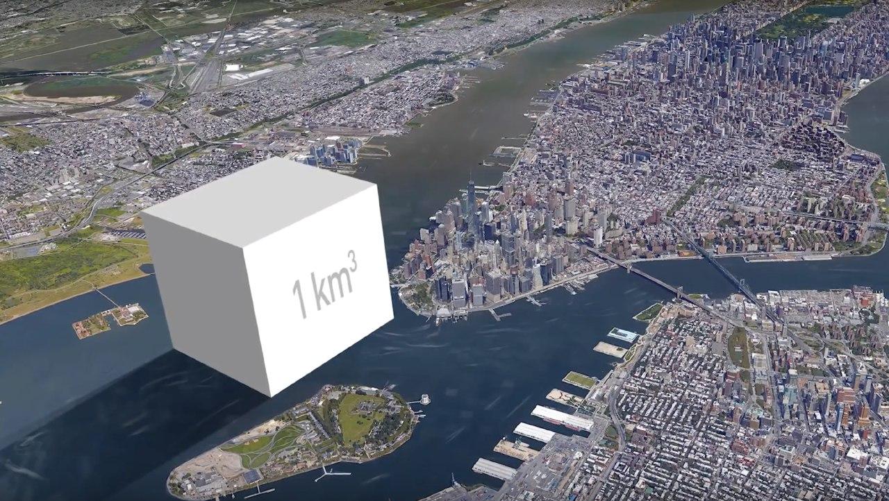 one kilometer cube